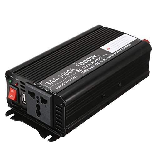 Werse Solar Power Inverter 1000 Watt 12 V Dc Zu 110 V Ac Geändert Sinus Converter - Schwarz - Power Inverter-cup
