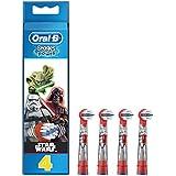 Oral-B Stages Power Star Wars - Cabezal de recambio para cepillo de dientes eléctrico, 4 unidades