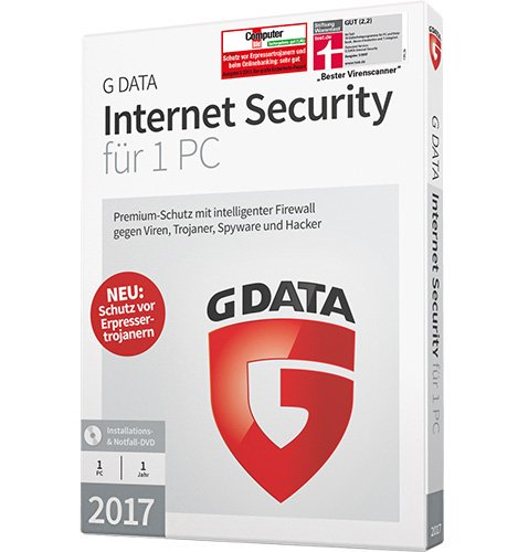 G DATA Internet Security 2017 für 1 PC