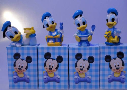 Disney bomboniera in resina paperino baby - dimensioni 8,5 cm - con scatola