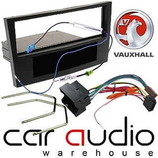 T1 Audio T1-VX04 - Vauxhall Astra H 2004 -2009 - Complete Car Stereo Facia Fitting Kit. Single Din Facia, Release Keys, ISO Loom & Aerial Adaptor (BLACK)