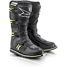 Axo Botas de Motocross (Drone Limited, color negro/amarillo