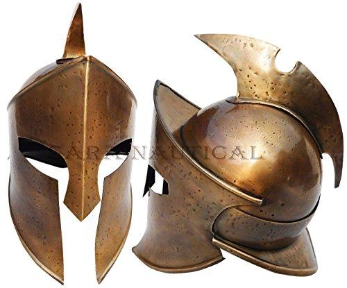 Helm Kostüm 300 - Spartan Römischen Mittelalter Centurion Helm Armor Viking 300Kostüm Helm rutschsicher