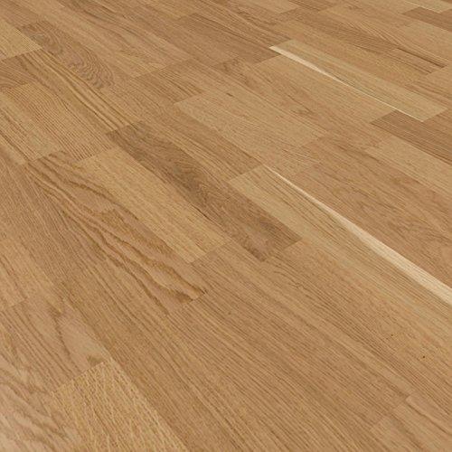 Parkett Schiffsboden Eiche hellbraun Standard matt lackiert Klick 2200x207x14mm Bolero