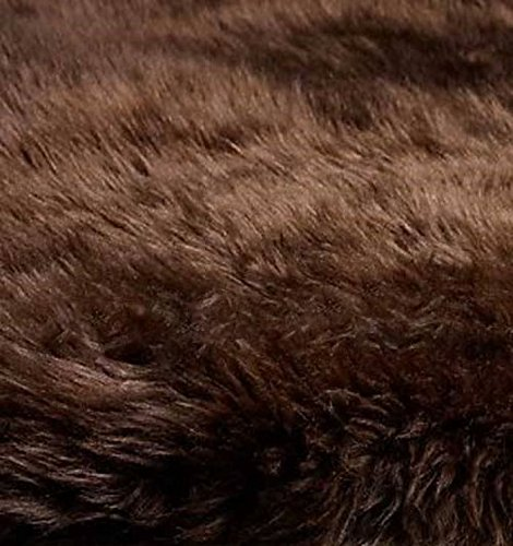 New 100% Genuine Extra Large Chocolate Brown Sheepskin Rug 180 x 75 cm