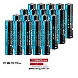PEARL Batterie 1,5V: Super-Alkaline-Batterien Typ AAA/Micro, 1,5 Volt, 20 Stück (AAA 1 5V Batterien)