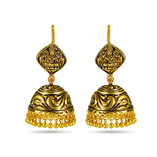 Joyalukkas Apoorva Collection 22k Oxidized Gold Drop Earrings
