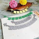 Fustellatrice Fustelle, FNKDOR Metallo Fustella Stencil DIY Cutting Dies Scrapbooking Album Foto, Accessori per Big Shot e altre macchina (P)