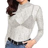 Divertida blusa de manga larga con efecto purpurina. Opcion de varios colores.