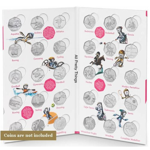 Cheap Official London 2012 Olympic 50p SPORTS COINS ALBUM FOLDER with space for the Completer Medallion by the Royal Mint (LOCOG Hologram) (NO 50p's or Medallion included EMPTY Album) Review