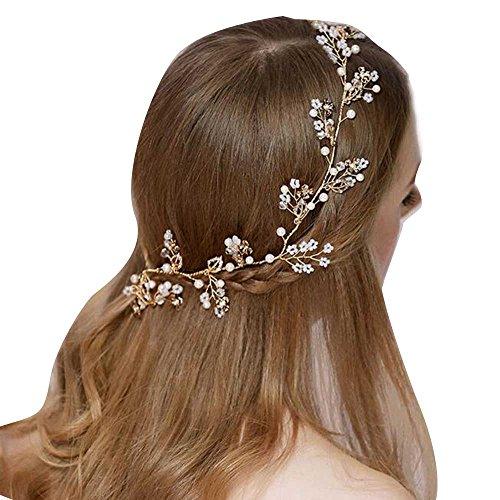 gracewedding Fashion oro accessori per capelli fascia copricapo da sposa damigella d' onore