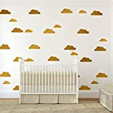 Yanqiao 56Pcs/set Lovely Cartoon Clouds for Kids'Room Fashion Decoration,Vinyl Removable Home Decoration Wall Stickers & DIY Materials,Gold - Yanqiao - amazon.co.uk
