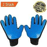 Passti Premium Fellpflege-Handschuhe für Hunde und Katzen - 2 Stück für Links- und Rechtshänder - Massagehandschuh - Tierhaare entfernen