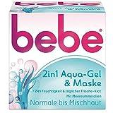 bebe 2in1 Aqua-Gel & Maske normale bis Mischhaut 50ml mit Meeresmineralien