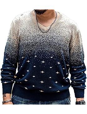 De Gran Tamaño De Los Hombres De Manga Larga Camisa De Impresión Suéter Otoño E Invierno Suéter Camisa Caliente