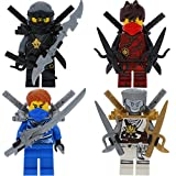 Ninjago Lego 4er Figurenset Ultimate 13 - Cole Zane Kai Jay mit 15 GALAXYARMS Waffen Schwerter