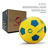 Chastep - Pallone da Calcio di 20,3 cm in Spugna Perfetto per Bambini o Principianti per Gioco o Esercizio, Morbida, Sicura, Yellow/Blue