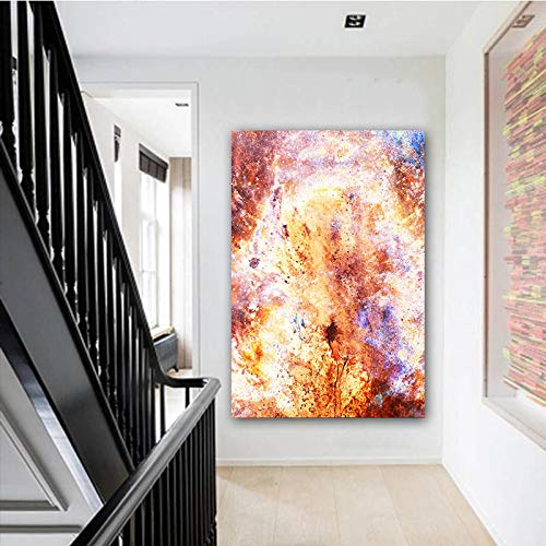 yhyxll Abstrakte wandkunst malerei pop Art wohnkultur Bunte Galaxy leinwand Bild Kunst für Wohnzimmer unframe 50x80 cm -