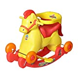 #5: Archana Nhr Fashionable 2 In 1 Horse Rocker 'N' Ride On (Red)