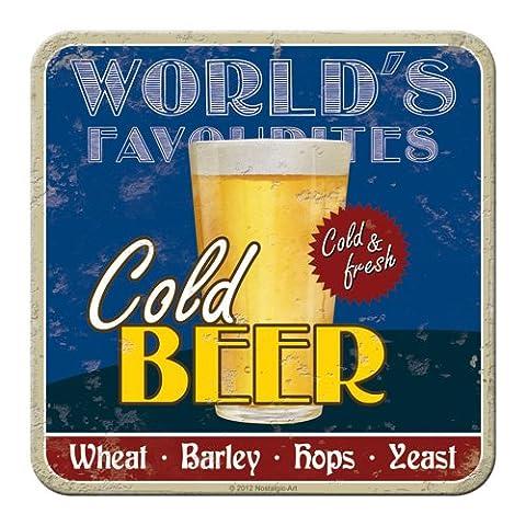 Nostalgic-art-bilderpalette 46133 bière et boissons spiritueuses cold beer-dessous-de-plat