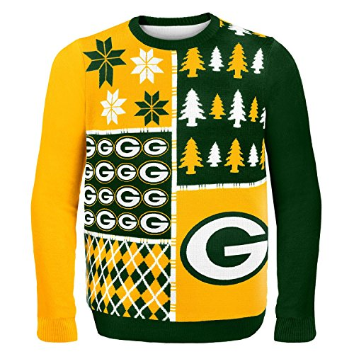 Klew NFL Pullover Busy Block Medium Green Bay Packers