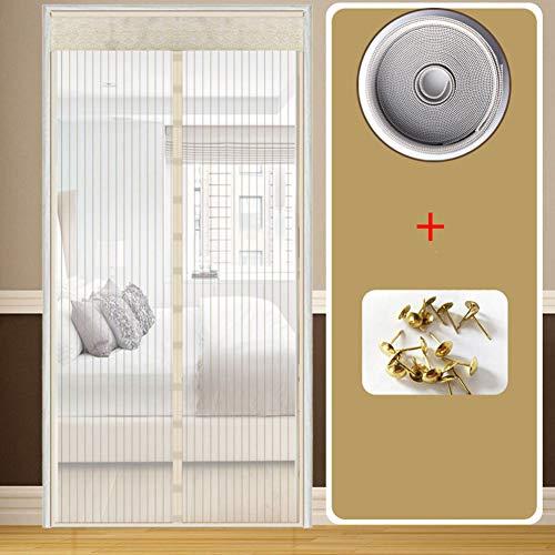 KE & LE Fiberglas Magnet fliegengitter tür Mit Heavy-Duty verstärkt mesh Und Full-Frame-Klettverschluss Mücken fernhalten Haustierfreundlich Hände frei-B 120x210cm