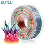 SUNLU Rainbow PLA Filament 1.75mm 3D Printer Rainbow Filament, Multicolor PLA Filament for 3D Printers and 3D Pens,1kg per Spool