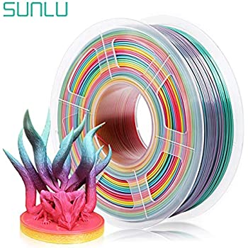 Silk Candy Dandy 3D Printer Filament SUNLU PLA Filament 1.75mm 1KG 2.2 LBS Spool Shiny Metallic PLA Silk Filament