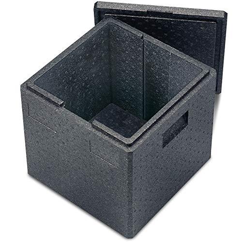 Thermobox, Pizza Box aus EPP, mit Deckel, LxBxH 410 x 410 x 400 mm, 41 Liter