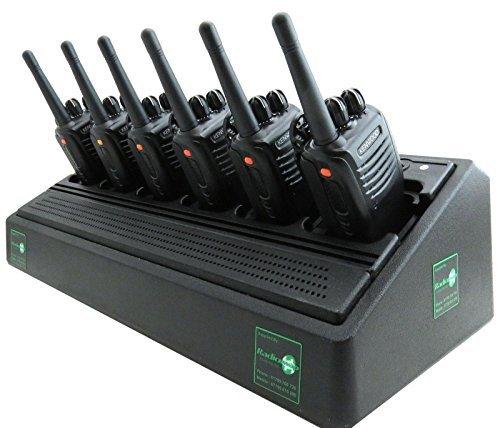KENWOOD TK3360 UHF 4 WATT WALKIE-TALKIE RADIOS DE DOS VÍAS x 6 SEGURIDAD BARES & DISCOTECAS