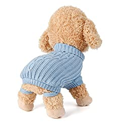 Janly® Pet Dog Cat Knitted Jumper Winter Warm Sweater Puppy Coat Jacket Clothes Costume by Janly®