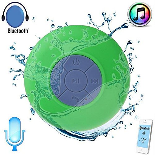 JOKIN Samsung Galaxy J7 (2016)Compatible Water Proof Bluetooth Shower Speaker With Mic Wireless Portable Stereo - Best for Bath, Pool, Car, Beach, Indoor/Outdoor Use (Multi colors )