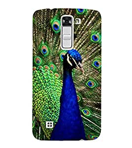 Print Masti Designer Back Case Cover for LG K10 :: LG K10 Dual SIM :: LG K10 K420N K430DS K430DSF K430DSY (Live Performance Beautiful Crown Neck Feather)