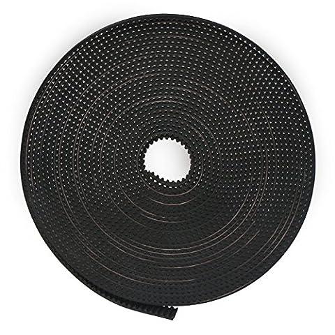 DROK® 5 mètres Courroie de distribution GT2 Rubber Made 2GT MXL Largeur 6mm Synchronous Aluminium Belt 3D Printer Accessories Kit de courroies crantées pour caméra motorisée Slider / Sangle de ceinture / moto / véhicule