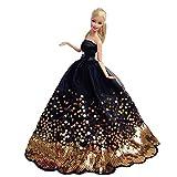 BEETEST Barbie Muñecas Fashion Accesorios Hermosa hada niña muñecas...