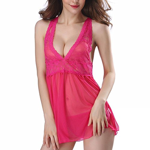 Jooffery Damen Bodystocking mehrfarbig hot pink Medium