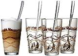Ritzenhoff & Breker 124200 Latte Macchiato - Set di 8 Pezzi, Bicchieri + cucchiaino