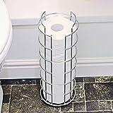 Top Home Solutions® freistehend 3Rolle Badezimmer Toilettenpapier Tissue Spender Aufbewahrung Halter Ständer