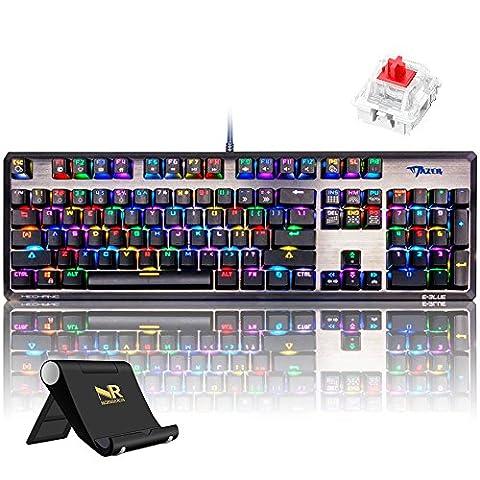 Normia Rita RGB Mechanische Spiel Tastatur und keinem Konflikt der allen Tasten und Kompakte Ausf¨¹hrung Schalter MX Rot - Schwarz