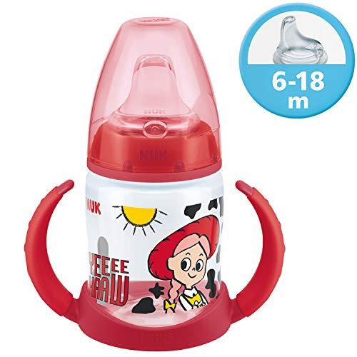NUK Disney Pixar Toy Story First Choice Learner Bottle Trinklernflasche, 6-18 Monate, 150 ml, Jessie
