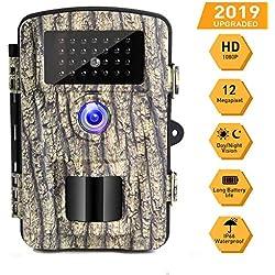 Caméra de Chasse Caméra de Surveillance 16mp 1080p HD Étanche Vision Nocturne Infrarouge IP66 Grand Angle 90° 0.6s Déclenchant IR Caméra de Jeu