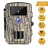 Caméra de Chasse Caméra de Surveillance 16mp 1080p HD Étanche Vision Nocturne...