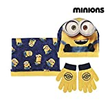 Made in Trade–2200001768–Schal–Mütze und Handschuhe Minions–Einheitsgröße