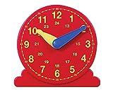 Betzold 85444 - Lernuhr Schüler-Uhr - Uhrzeit lesen lernen, Grundschule, Mathematik, 13 cm Durchmesser