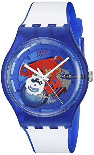 Swatch Orologio al Quarzo Unisex Clownfish Blue 41 mm