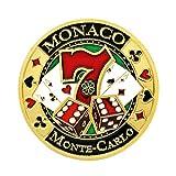 sharprepublic Sammelbare Gedenkmünze Golden Plated Round Poker Game Herausforderungsmünze -