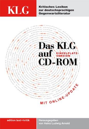 Kritisches Lexikon zur deutschsprachigen Gegenwartsliteratur (KLG), Einzelplatz-Version, 1 CD-ROM