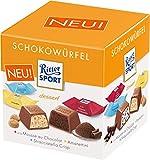 Ritter Sport Schokowürfel Box Dessert (mit den Sorten Stracciatella Crisp, Amarettini und  la Mousse au Chocolat) 22 Stück je Box (8 x 176 g)