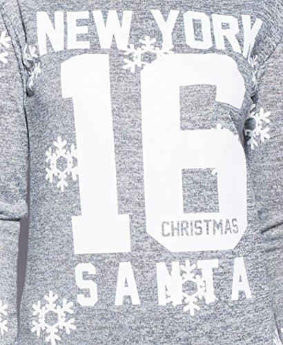 Mesdames Snowflake Père Noël de New York Loungewear Set EUR Taille 36-42 Gris