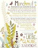 Poster Manchmal - mini Gedicht Liebe Glaube Zuversicht Spruch - Größe 40 x 50 cm - Miniposter